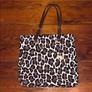 Michael Kors cheetah print tote